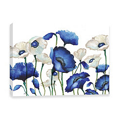Royal Blues in Spring Embellished Canvas Art Print
