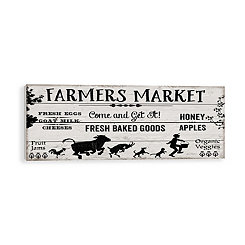 Farmers Market Wood Pallet Art Print