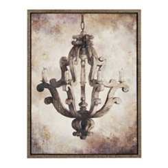 Chandelier Barnwood Framed Art Print