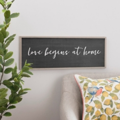 Love Begins at Home Framed Wooden Wall Plaque