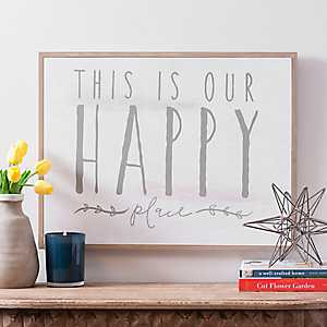 This is Our Happy Place Framed Wooden Wall Plaque