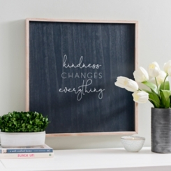 Kindness Changes Everything Denim Blue Wall Plaque
