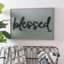 Blessed on Shiplap Wood Wall Plaque