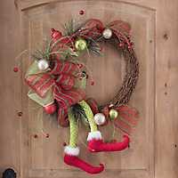 Striped Elf Leg Wreath