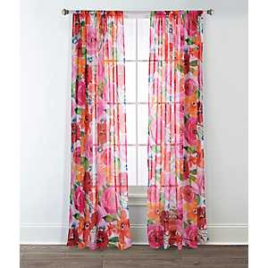 Santa Monica Printed Curtain Panel Set, 84 in.