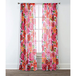 Santa Monica Printed Curtain Panel Set, 95 in.