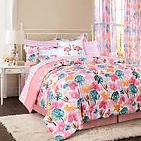 Pink Calypso Twin 3-pc. Comforter Set