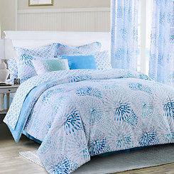 Blue Sundial King 4-pc. Comforter Set