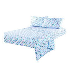 Blue Sundial King 4-pc. Sheet Set