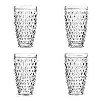 Clear Bistro Dot Glasses, Set of 4