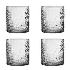 Clear Crocodile Old Fashioned Glasses, Set of 4