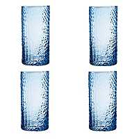 Blue Crocodile Highball Glasses, Set of 4