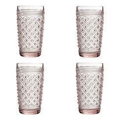 Pink Ikat Glasses, Set of 4