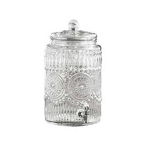 Bradford Embossed Glass Beverage Dispenser