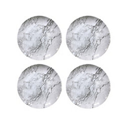 Gray Marble Melamine Salad Plates, Set of 4