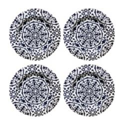Old Town Blue Melamine Dinner Plates, Set of 4