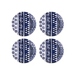 Old Town Blue Melamine Salad Plates, Set of 4