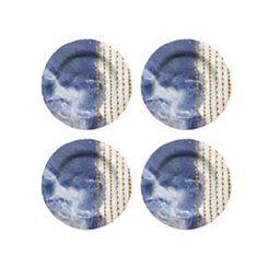 Blue Soiree Melamine Salad Plates, Set of 4