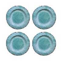 Vintage Teal Melamine Dinner Plates, Set of 4