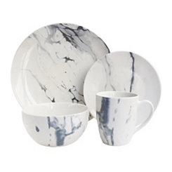 Blue Marble Ceramic 16-pc. Dinnerware Set