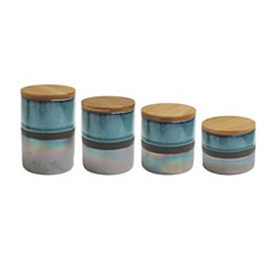 Abingdon Glazed Ceramic Canisters, Set of 4