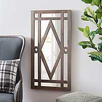 Natural Diamond Paned Framed Mirror, 47.3x23.5 in.