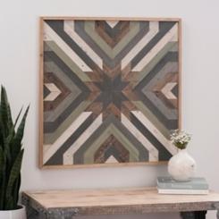 Aspen Quilt Rustic Wood Plank Plaque