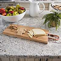 Acacia Wood Cutting Board with Copper Handle