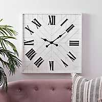 White and Black Ron Wall Clock