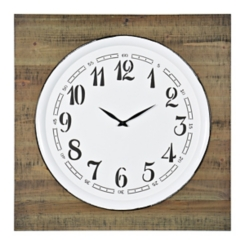 Stevens Wood and Metal Wall Clock