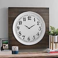 Stevens Wood and Metal Wall Clock