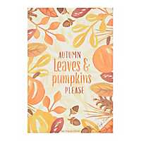 Autumn Leaves and Pumpkins Please Sachet
