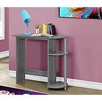 Gray Kids Computer Desk with Shelves