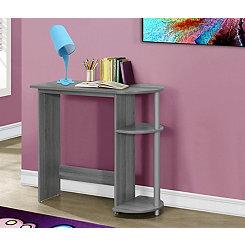 Gray Kids Computer Desk with Shelves