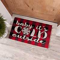 Baby It's Cold Outside Buffalo Check Doormat