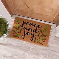 Peace and Joy Coir Doormat