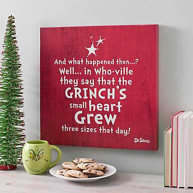 Grinch's Heart Grew Wall Plaque
