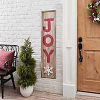 Joy Snowflake Christmas Porch Board
