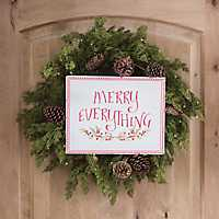 Metal Merry Everything Sign