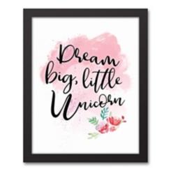 Dream Big Little Unicorn Framed Art Print
