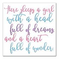 There Sleeps A Girl Canvas Art Print