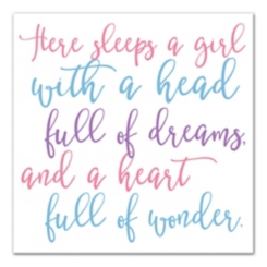 There Sleeps A Girl Canvas Art Print