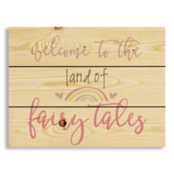 The Land of Fairy Tales Wood Pallet Art Print