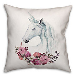 Unicorn Floral Pillow