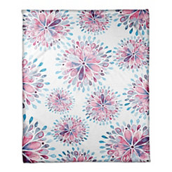 Watercolor Medallion Floral Throw