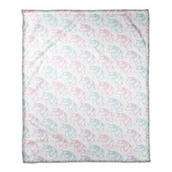 Colorful Unicorn Throw