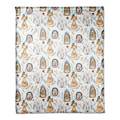 Whimsical Woodland Animal Throw