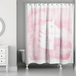 Dream Big Unicorn Shower Curtain