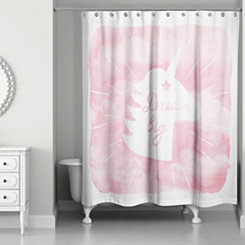 Dream Big Unicorn Shower Curtain