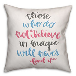 Multicolor Believe in Magic Pillow